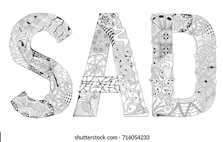 Hand Painted Art Design Adult Anti Stress Coloring Page Black And White