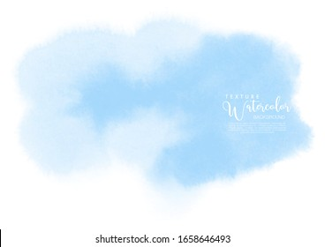 Hand-painted background blue watercolor texture, isolated on white background, Abstract artistic element used as being an element in the decorative design of invitation, cards, cover or banner.