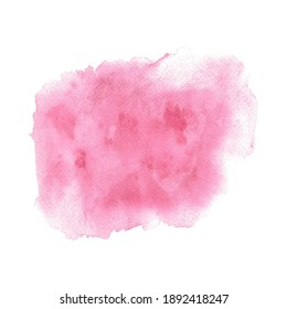 Hand-painted background red watercolor texture. Red Valentine.
