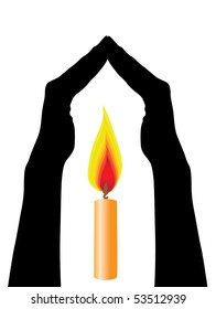 hands caring light symbol of protection