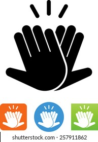 Hands celebrating with a high 5 icon