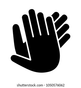 Hands clapping, applauding or ovation applause gesture flat icon for apps and websites