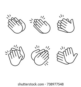 Hands Clapping Icon Vector Outline