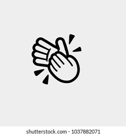 Hands clapping. Vector illustration