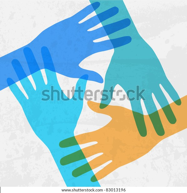 hands connecting