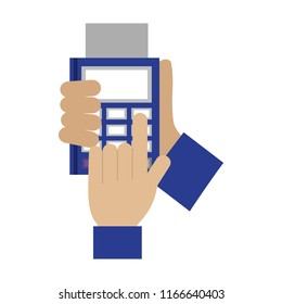 hands with dataphone payment online business