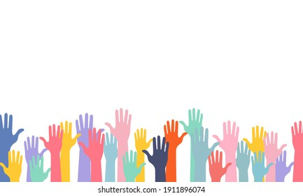 hands of different colors cultural and ethnic diversity vector design.