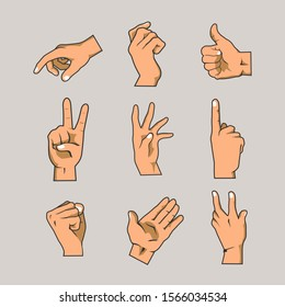 Hands and Fingers Vector Collections