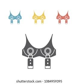 Hands Free Breast Pumping Bra Vector illustration