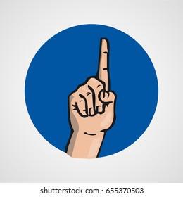 hands gesture or finger alphabet spelling vector illustration