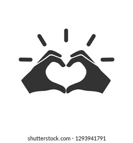 Hands gesture making heart icon vector image