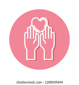 hands with heart protection