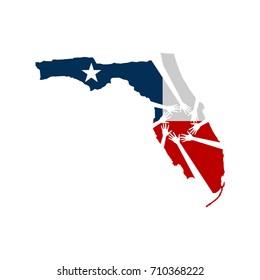 Hands Helping Florida Vector Illustration