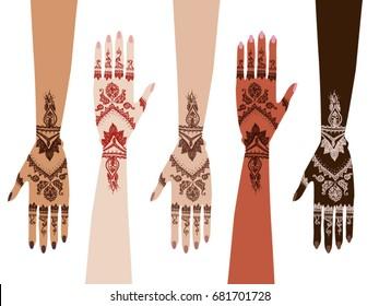 hands henna