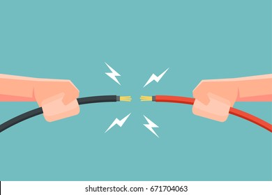 wire spark images stock photos vectors shutterstock rh shutterstock com electrical panel wiring (animation) Basic Electrical Wiring Diagrams