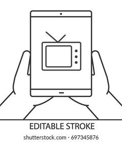 Watching Tv Tablet Stock Vectors Images Vector Art Shutterstock