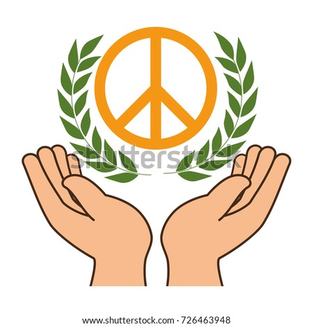 Hands Human Protection Peace Love Symbol Stock Vector Royalty Free