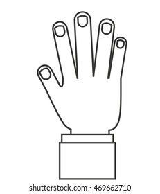 hands human touch isolated vector illustration design