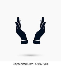 hands icon vector, flat design best vector icon