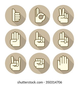 hands icons light brown 3