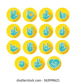 Hands icons set 7