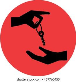 hands key icon.hands key vector