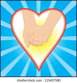 "hands in love, concept of friendship, holiday ""Saint Valentine"""