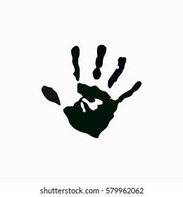 Hands print  icon. Vector design.
