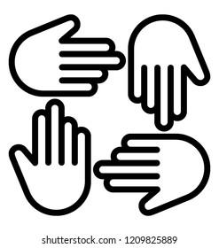 Hands representing helping hands