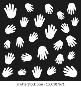 Hands set. Graphic template. Vector  background.