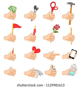 Hands with simple tools. Use for blog, content, advertising and etc.