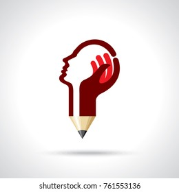 Hands of student, education concept