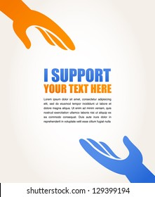 hands - support and help concept