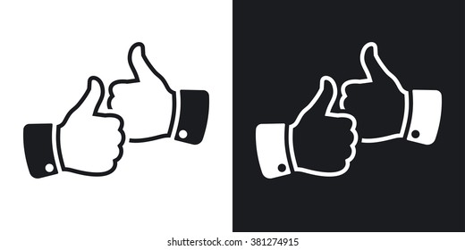 Two Thumbs Up Images, Stock Photos & Vectors