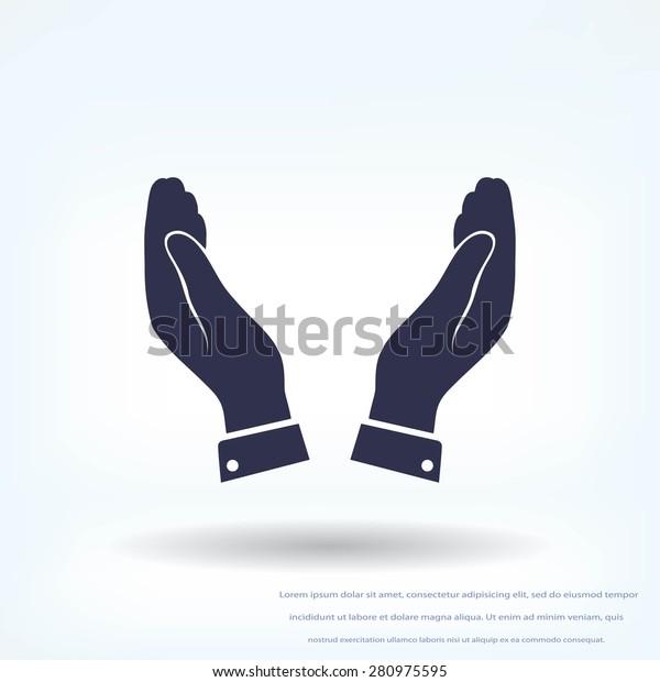 hands vector icon