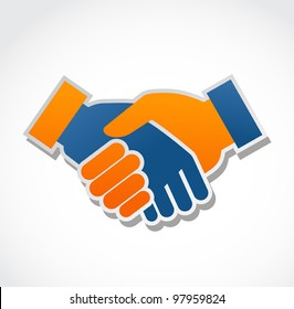 handshake abstract vector illustration