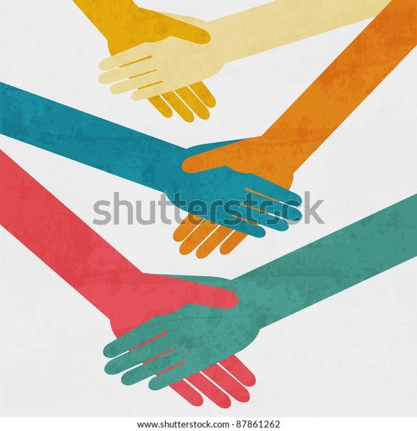 Handshake background