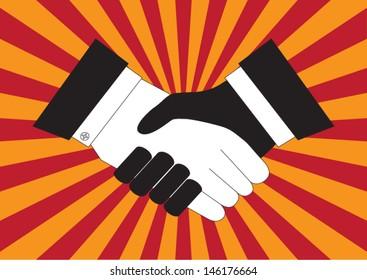 handshake between man