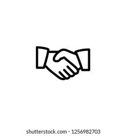 handshake, business black icon