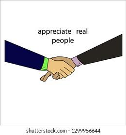 handshake business fraud deceiver
