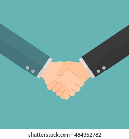 handshake businessman agreement. shaking hands. successful concept vector illustration flat style with background.