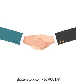 Handshake businessman agreement. shaking hands. successful concept vector illustration