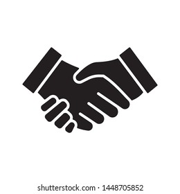 Handshake, deal, partnership icon in trendy flat style design. Vector graphic illustration. Suitable for website design, logo, app, and ui. EPS 10.
