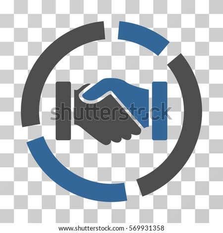 Handshake Diagram Icon Vector Illustration Style Stock Vector