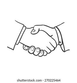 handshake doodle sketch illustration, excellent vector illustration, EPS 10