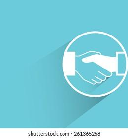 handshake, flat and shadow theme