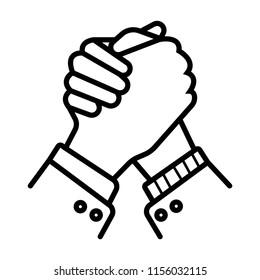 Handshake Friendship Partnership Minimalistic