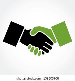 Handshake green (shaking hands)
