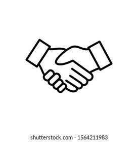 Handshake icon ,agreement sign vector symbol illustration