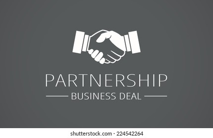 Handshake icon. Business concept